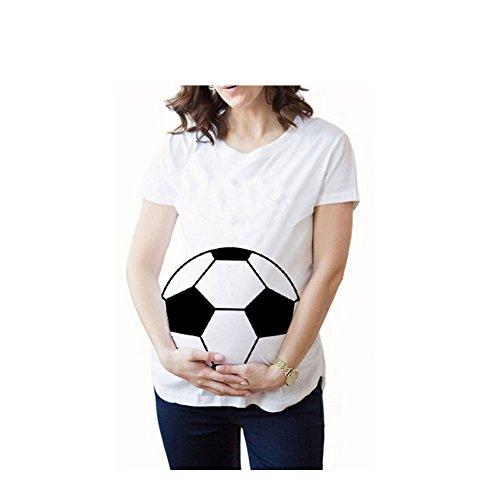 Witzige süße Schwangere Maternity Damen Umstandsmode T-Shirts mit Mutterschafts lustige Motiv Schwangerschaft Geschenk Kurzarm-S