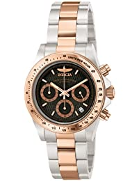 Invicta Speedway Men's Chronograph Quartz Watch with Stainless Steel Rose Gold Plated Bracelet – 6932