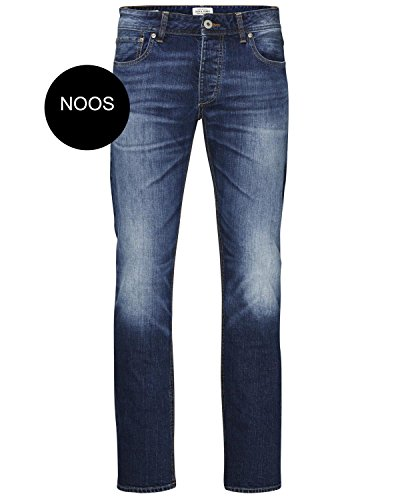 JACK & JONES -  Jeans  - Attillata  - Uomo Blau (Blue Denim Fit:SLIM) 34W x 34L