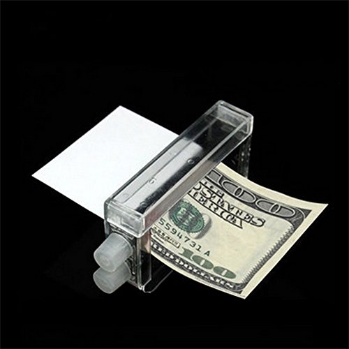 Ocamo Magic Tricky Money Maker Printing Machine Puzzle Change Paper to Money Toys Transparent Color