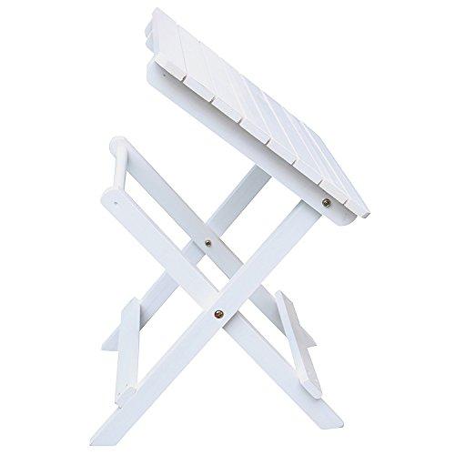 AZBRO Songsen Moda al aire libre de madera adirondack plegable mesa lateral Patio Deck muebles de jard¨ªn (adulto, blanco)