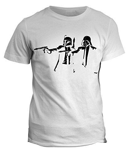 Tshirt Star Wars Stormtrooper- pulp fiction- film cult guerre stellari - in cotone by Fashwork Bianco