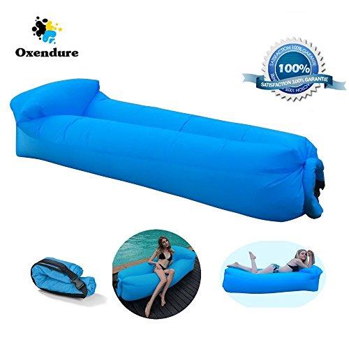 Air Lounger, Wasserdichtes Aufblasbares Luftsofa mit Tragebeutel, zum Schlafen im Freien, im Innenbereich, zum Zurücklehnen und Entspannen, Aufblasbarer Sitzsack für Camping den Strand  zum Fischen