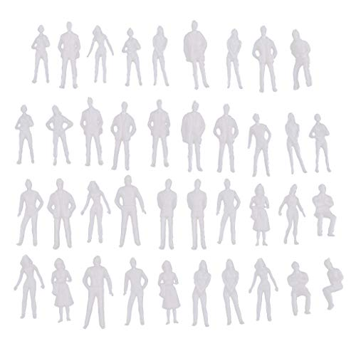 SM SunniMix 1: 50 1: 75 Models Miniature Person Figures Unpainted for Modeling Sand Table Model