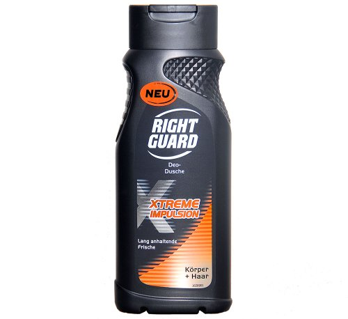 6x-right-guard-duschgel-xtreme-impulsion-korper-haar-250ml