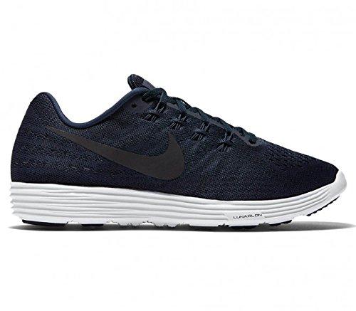 Nike Lunar Tempo 2, Chaussures de Running Compétition Homme, Bleu, Taille Bleu marine / blanc (bleu marine minuit / bleu marine minuit - blanc)