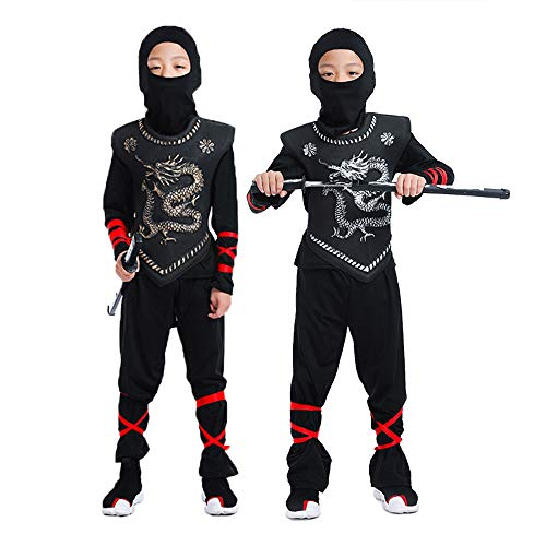 Book World Up Kostüm Dress Day - DXYQT Anime Cosplay Urlaub Kostüme Kinder Naruto Kostüm Samurai Assassin Uniform Set World Book Day Kostüme für Kinder,Gold-XL