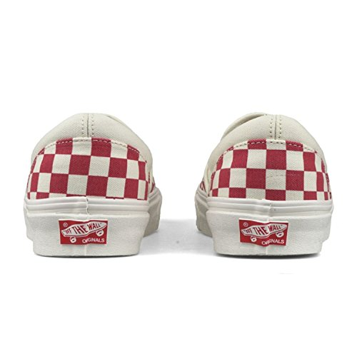 Vans U Classic Slip-on, Baskets mode mixte adulte ( Primary Checker) Racing Red / White