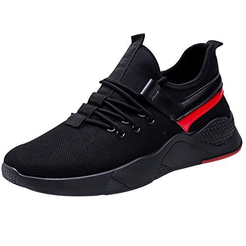 Alaso Scarpe sportive da uomo con cuscinetto ad aria, liquidazione, da corsa, fitness, palestra, corsa, sneakers basse traspiranti Nero 42