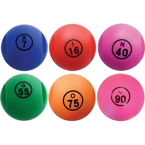 boule de loto magnétique paillettes + 100 pions magnétiques de loto couleurs assorties 3580743231017
