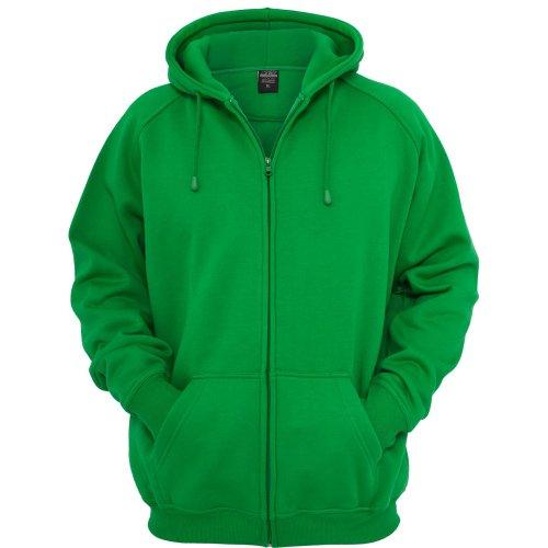 Urban Classics Herren Kapuzenpullover Zip Hoody c.green