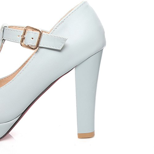 1to9, Chaussures À Talons Hauts Pour Femmes Bleues