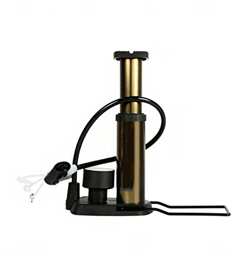 RUIX Hochdruck Standpumpe (Fahrradpumpe, Luftpumpe Für Fahrrad Und Für Luftmatratze) Hochdruck Standpumpe ,Gold