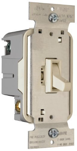 Pass & Seymour T600LAV Toggle Dimmer 600-watt Single Pole Easy Install Light, Almond by Pass & Seymour (Toggle Dimmer)