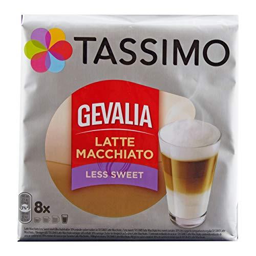e Macchiato Less Sweet, Weniger Süß, Gemahlener Röstkaffee, Kaffeekapsel, 40 T-discs ()