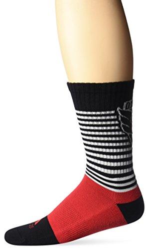 adidas MLS Herren SP17gestreift Team Farbe Crew Socken, Herren, MLS SP17 Striped Team Color Crew Socks, schwarz, Size 9-11 -