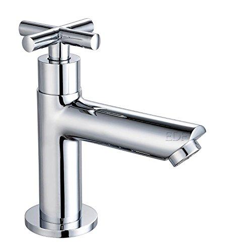 Design Wasserhahn Kreuzgriff Kaltwasser Armatur Waschtischarmatur Chrom, 2406238