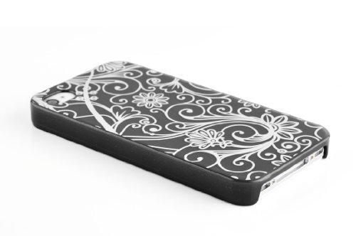 JAMMYLIZARD | Totenkopf TPU Back Cover Hülle für iPhone 4 und 4s, KNALLROSA Fluo Bonbon - Lakritz-Speck
