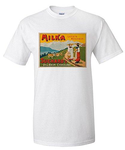 milka-suchards-vintage-poster-switzerland-c-1910-premium-t-shirt