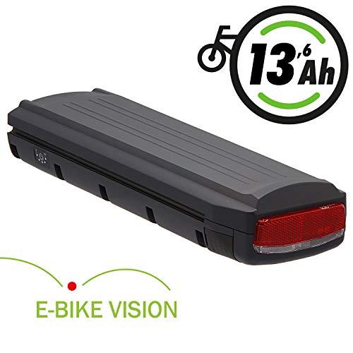 E-BIKE VISION Ersatz-Akku 36V 13,6Ah 490Wh für Gazelle Gepäckträgerakku