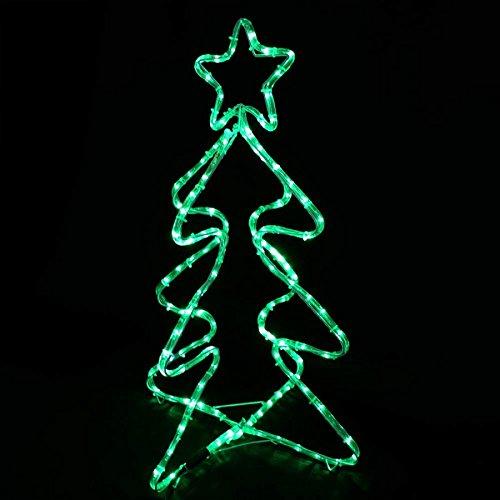 Gartenfigur Tanne 80 cm für Weihnachtsbeleuchtung aussen 168 LED blinkend