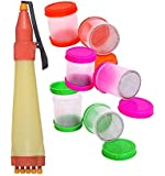 Style Up 1 Rangoli Pen with 6 Filler Making Rangoli kit (Pen Colour May be Very as per Stock)