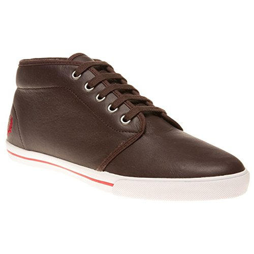 Fred Perry  Fletcher Leather, Baskets pour homme Marron Marrone Marron