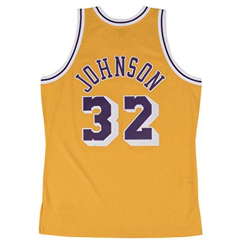 Magic Johnson Los Angeles Lakers Mitchell & Ness NBA Throwback HWC Jersey Trikot - Gold -
