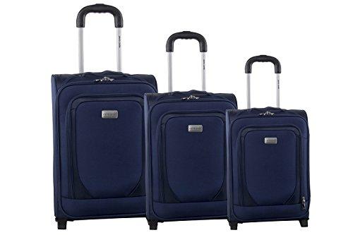 3 Maletas semirrígidas PIERRE CARDIN azul cabina para viajes S242