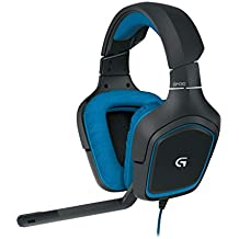 Logitech G430 - Auriculares gaming para PC, Xbox One, PS4 y Switch, color negro y azul