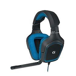 Logitech G430 Gaming Kopfhörer (Dolby 7.1 Surround Sound für PC ) blau
