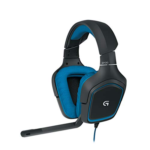 Logitech G430 Gaming Kopfhörer (Dolby 7.1 Surround Sound für PC ) blau Usb-wireless-headset