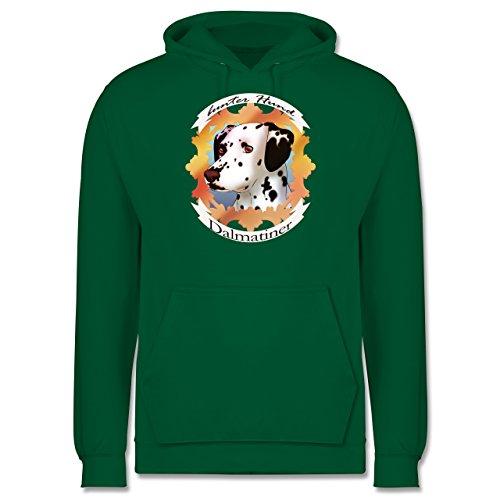 Hunde - Dalmatiner - bunter Hund - Männer Premium Kapuzenpullover / Hoodie Grün