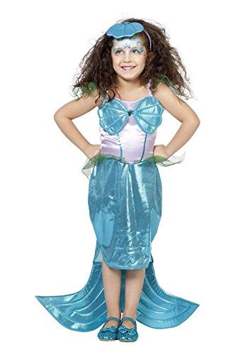 Kostüm Günstige Ariel - Meerjungfrau Kostüm Mädchen Türkis Pink Nixe Sirene Unterwasser Fantasy Märchen Karneval Fasching Hochwertige Verkleidung Fastnacht Größe 152 Türkis