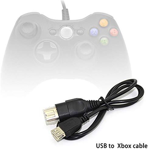 Umwandlung Linie (Hellycuche 0.8 m / 31.50 Zoll USB zu Xbox Umwandlungs-Linie PC zu Xbox, dauerhafte Umwandlungs-Linie Unterstützung USB Gamepad, Das Spiel auf dem Xbox Wirt für Entwickler und Programmierer spielt)