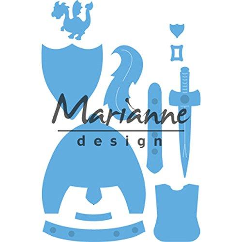 Marianne Design Creatables Präge-und Stanzschablone, Kims Kumpels Ritter, für Handwerksprojekte, Metall, hellblau, 7,6 x 9,3 cm