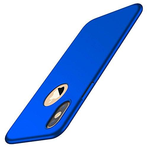 iPhone X Hülle Case,Ultra-Dünn PC Handyhülle Cover Anti-Kratzer Schutzhülle Stoßfest Schutz Tasche Schale für Apple iPhone X (2017) (Blau)