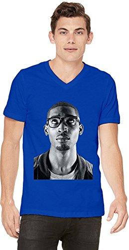 Tinie Tempah Black And White Portrait Mens V-neck T-shirt X-Large -