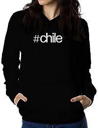 Sudadera con capucha de mujer Hashtag Chile