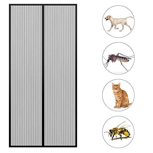 GOUDU Magnet Fliegengitter TüR Fliegengitter Fenster Insektenschutz Pet freundlich für Balkontür Wohnzimmer Terrassentür - Black A 160x210cm(63x83inch) - Pet-tür-fenster