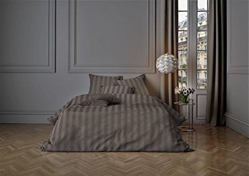 Mistral Home lenzuola Satin Stripe Walnut 2x 80x 80+ 1x 200x 200cm (120251)