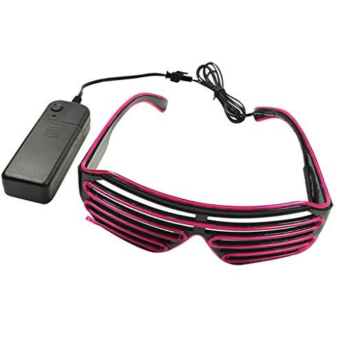 F Fityle Mode LED Brille Leuchtende Brille Blinkende Brille Atzenbrille mit Batteriebetrieben für Fotografie und Aufführung Requisiten - ()