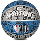 Spalding GRAFFITE NBA Basketball (Blue-Grey)