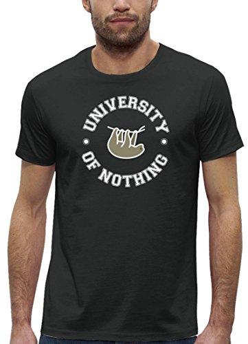 Faultier Premium Herren T-Shirt aus Bio Baumwolle University Of Nothing Stanley Stella Anthrazite