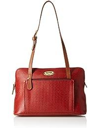 Hidesign leather Women's Handbag NYLE 3 (Red)