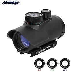 Aomekie Viseur Point Rouge/Vert Vue Fusil Portée Reflex Optique Holographique Tactique pour Rail de Weaver/Picatinny 11mm / 22mm
