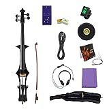 T-XYD Violoncelle électrique 4/4 Pleine Grandeur Cello Professional Accessoires de Jeu Sac, Bow, Colophane, Câble de Connexion, Écouteurs, Cordes, Accordeur, Chiffon de Nettoyage