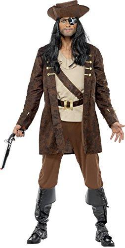 Imagen de smiffy's  disfraz de bucanero para hombre, talla l 33432l