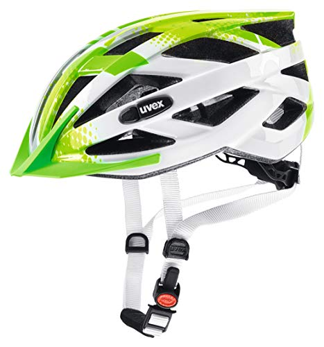 uvex Unisex Jugend, air wing Fahrradhelm, lime white, 52-57 cm
