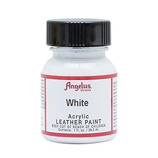 Angelus Brand Acrylic Leather Paint - White - 1oz